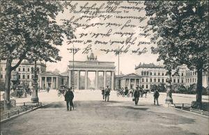 Ansichtskarte Mitte-Berlin Brandenburger Tor 1908