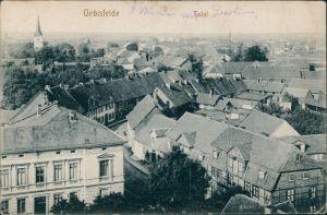 Ansichtskarte Oebisfelde Panorama-Ansicht - über den Dächern 1915
