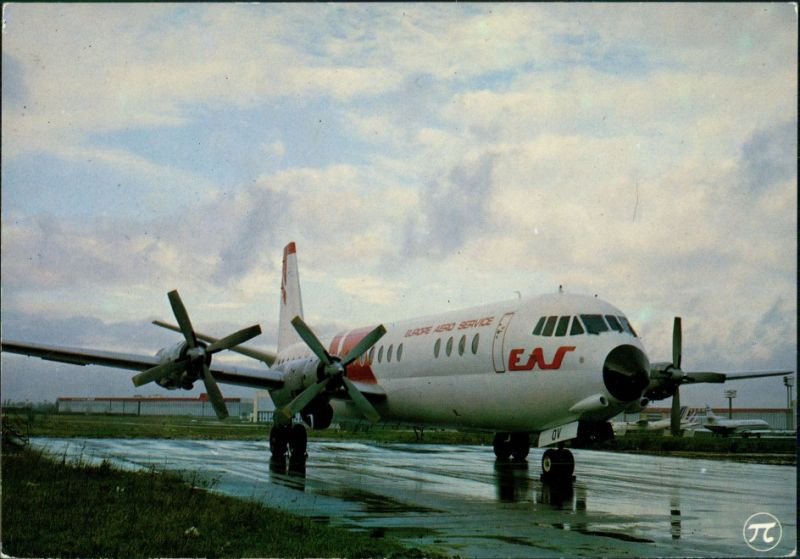 Propellerflugzeug VICKERS VANGUARD 952 d'EUROPE AERO SERVICE 1990