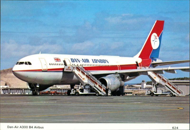 Ansichtskarte  Dan-Air Airbus A300 B4 Short/medium range jet airliner 1990