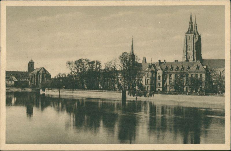 Postcard Breslau Wrocław Dominsel 1927