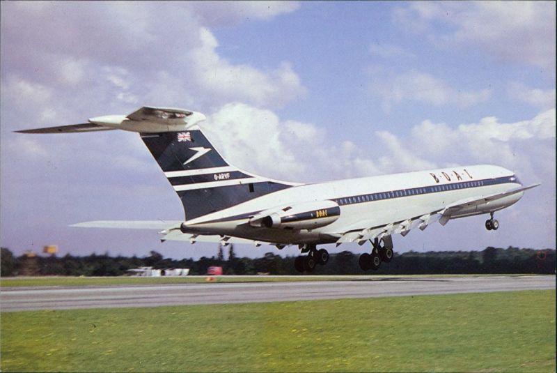 Ansichtskarte  Flugzeug G-ARVF C/n 808 Vickers VC-10 1101 B.O.A.C. 1980