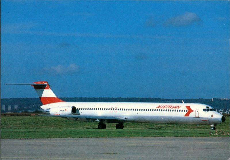 CPA Orly Flugzeug AUSTRIAN MD-81 Flughafen Paris Orly 1990