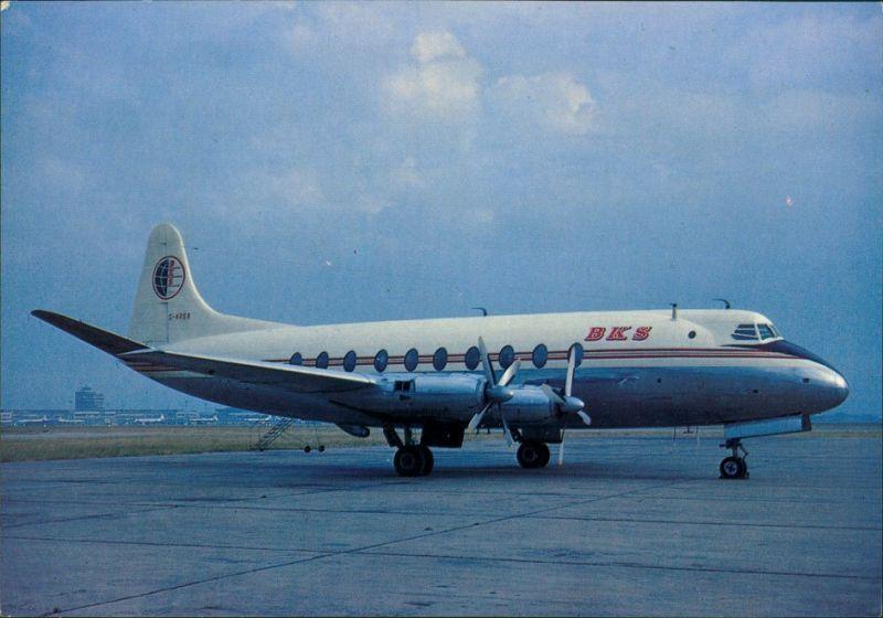 Propellerflugzeug G-ARER c/n 12 Vickers 708 Viscount B.K.S. 1980