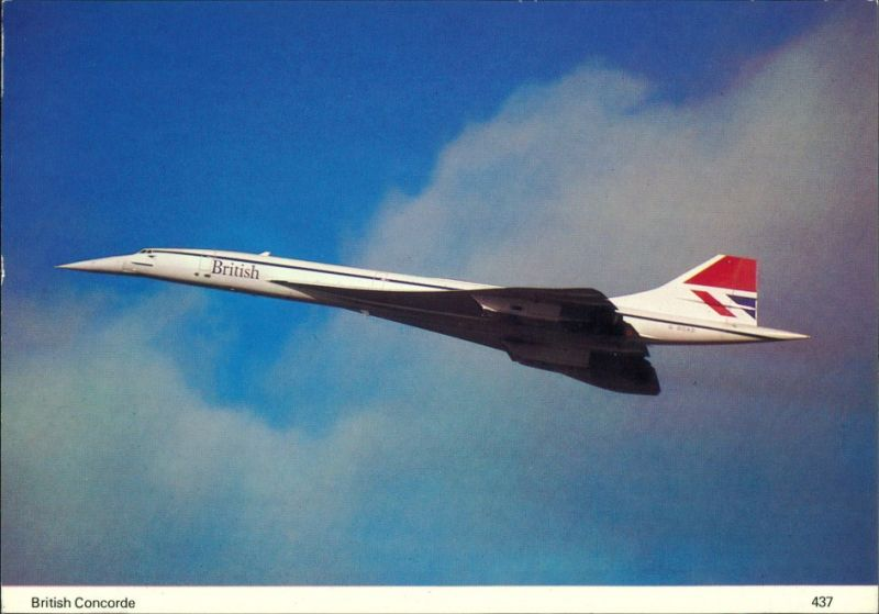Flugzeug Concorde supersonic airliner built jointly by British Aircraft 1990