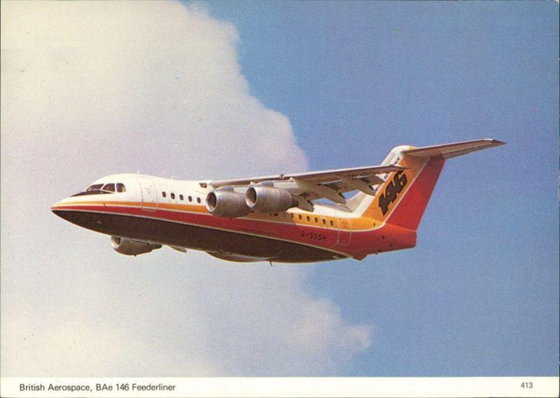 Flugzeug BRITISH AEROSPACE BAe 146 FEEDERLINER airliner jet 1990
