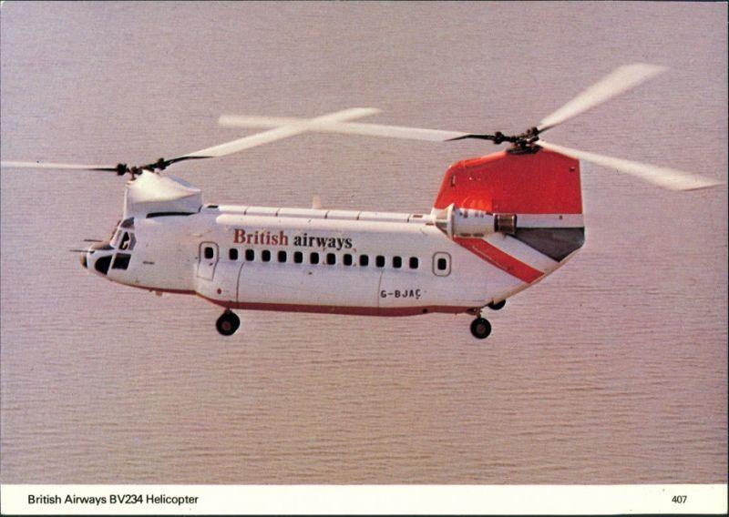 Ansichtskarte  Hubschrauber British Airways BV234 helicopter 1990