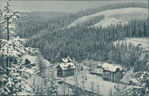 Oberbärenburg-Altenberg (Erzgebirge) Winter - Hotel Schäfermühle 1912