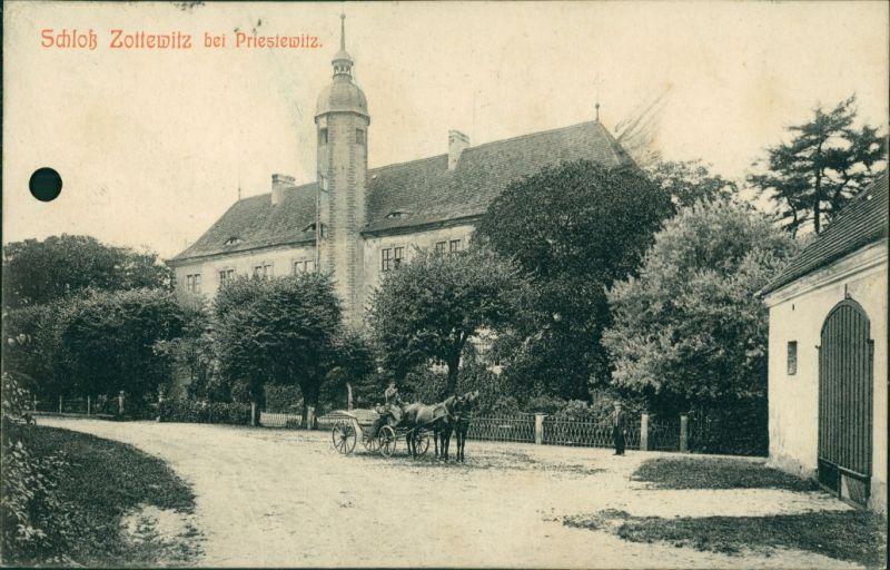 Ansichtskarte Zottewitz-Priestewitz Schloß Zottewitz 1908