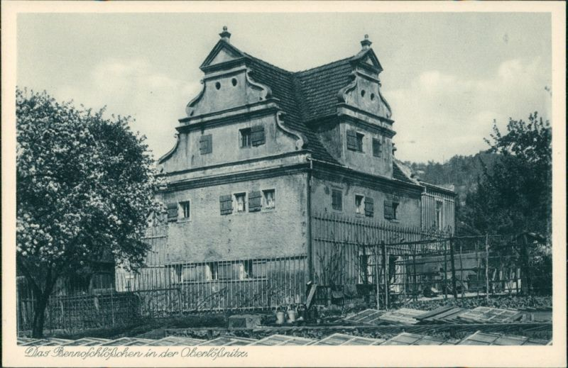 Ansichtskarte Oberlößnitz-Radebeul Das Bennoschlösschen 1928