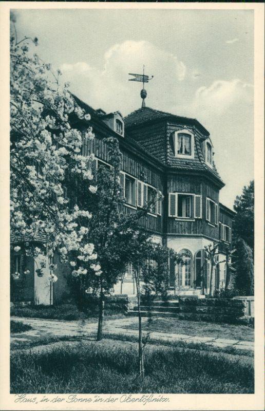 Ansichtskarte Oberlößnitz-Radebeul Villa Haus in der Sonne 1928