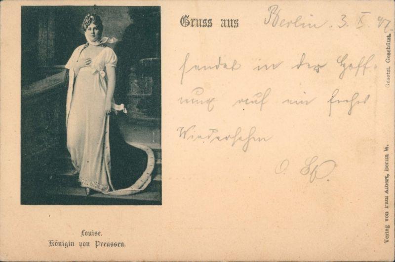 Königin Luise von Preußen/ Luise von Mecklenburg-Strelitz 1897