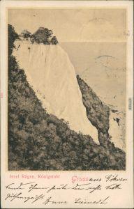Ansichtskarte Stubbenkammer-Sassnitz Königsstuhl Rügen 1900 Stempel nach Wien