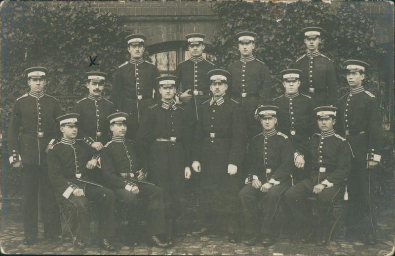 Friedrichsort-Kiel Gruppenbild Seesoldaten 1. Komp. I. Seebataillon 1912