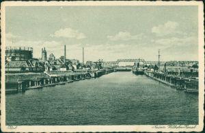 Holtenau-Kiel Holtenå Industrieanlagen, Anleger Kaiser Wilhelm Kanal 1930