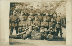 Ansichtskarte  Soldaten, zur Erinnerung an den Weltkrieg 4. Korp 1914