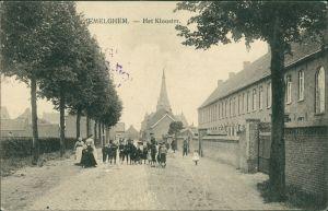 Postkaart Emelgem Het Klooster/Straße 1918