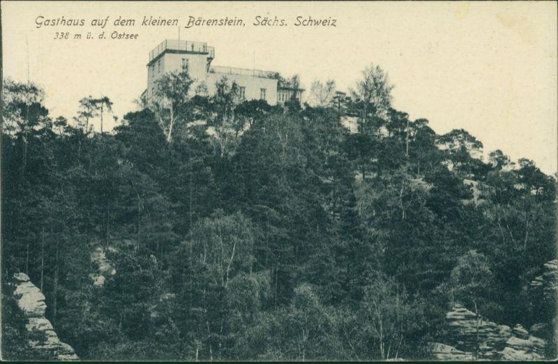 Königstein (Sächsische Schweiz) Bärenstein - Sächsische Schweiz - Gasthaus 1912