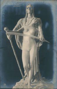 Ansichtskarte  Elna Borch: Erlöst - La Mort 1912