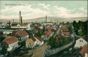 Reichenau in Sachsen Bogatynia Fabriken, Oberdorf - Straße 1908