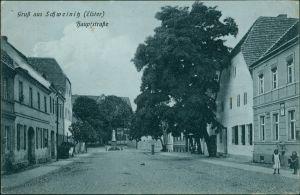Ansichtskarte Schweinitz (Elster)-Jessen Partie in der Hauptstrasse 1917