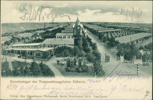 Ansichtskarte Dallgow-Döberitz Barackenlager - Straße 1904