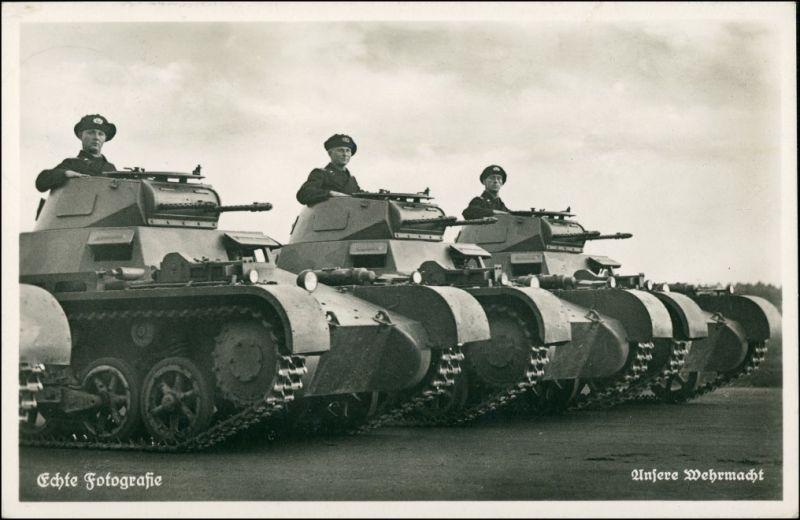 Ansichtskarte  Wehrmacht Panzerkampfwagen 1936