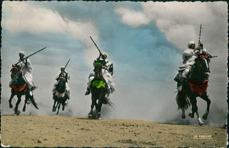 Postcard Ägypten (allgemein) Trachten - Typen (Ägypten) Cavaliers 1969
