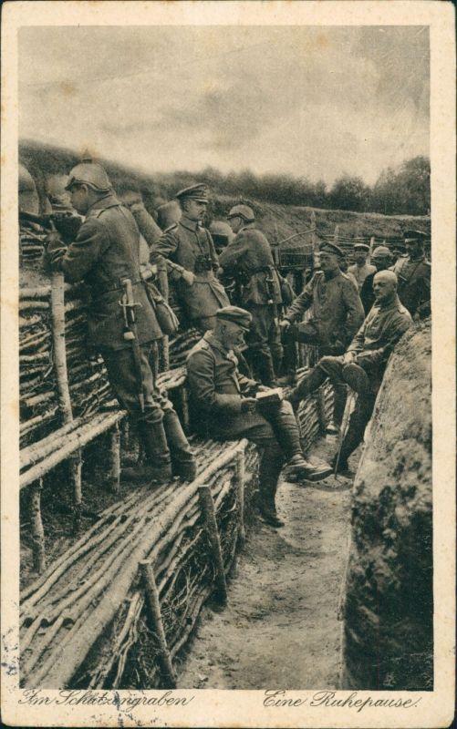 Militär/Propaganda 1.WK (Erster Weltkrieg) im Schützengraben 1916