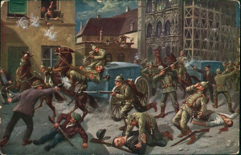 Militär/Propaganda 1.WK (Erster Weltkrieg) - Straßenkampf 1916