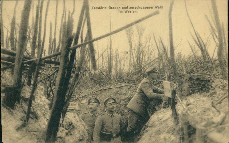 Militär/Propaganda 1.WK (Erster Weltkrieg) Schützengraben Soldaten Westen 1916