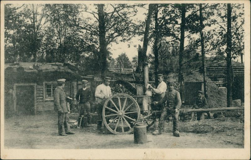 Militär/Propaganda 1.WK (Erster Weltkrieg) - Feldküche im Felde 1916