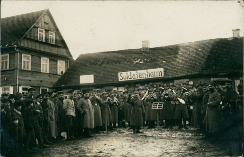 Foto  Militär/Propaganda 1.WK Soldatenheim Konzert 1917 Privatfoto