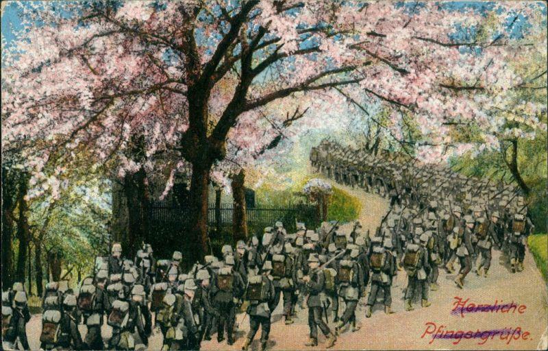 Militär/Propaganda 1.WK (Erster Weltkrieg) Glückwunsch: Pfingsten 1916
