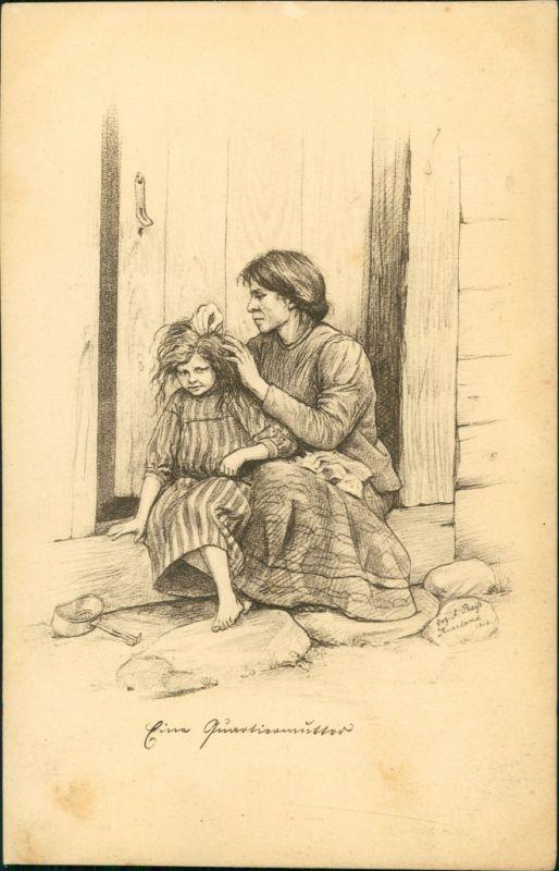 Postcard .Russland Trachten / Typen (Rußland) - Quartiermutter 1916