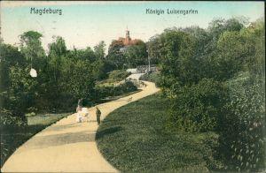 Ansichtskarte Magdeburg Königin Luisengarten 1910