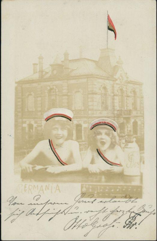 Ansichtskarte  Scherzkarten - Junge und Mädchen Trellern 1903