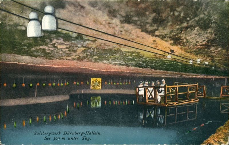 Ansichtskarte Hallein Salzbergwerk 1925
