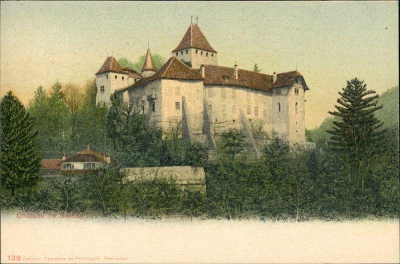 Ansichtskarte Blonay Schloss Château de Blonay 1900