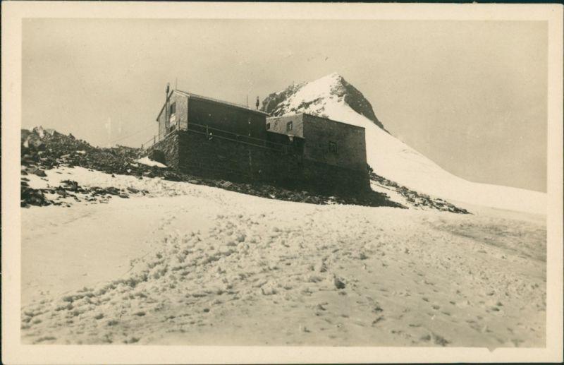 Ansichtskarte Kals am Großglockner Erzherzog-Johann-Hütte mit Schnee 1932