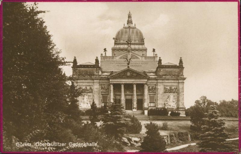 Görlitz Zgorzelec Miejski Dom Kultury/Oberlausitzer Gedenkhalle/Ruhmeshalle 1927