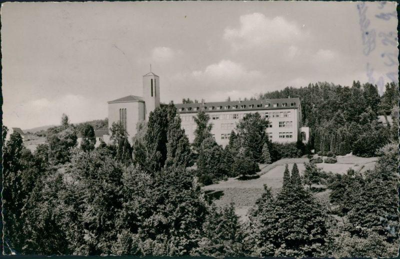 Ansichtskarte Menden (Sauerland) Walburgisgymnasium Walpurgisschule 1962