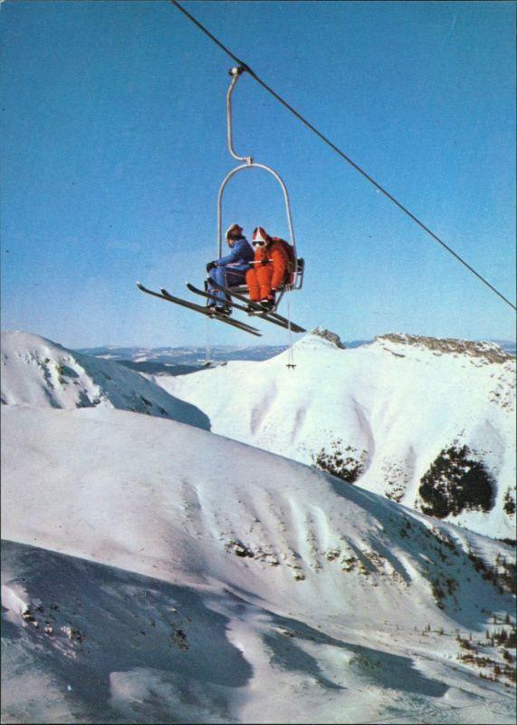 Zakopane Wyciąg narciarski na Hali Goryczkowej/Skilift im Goryczkowa-Tal 1980