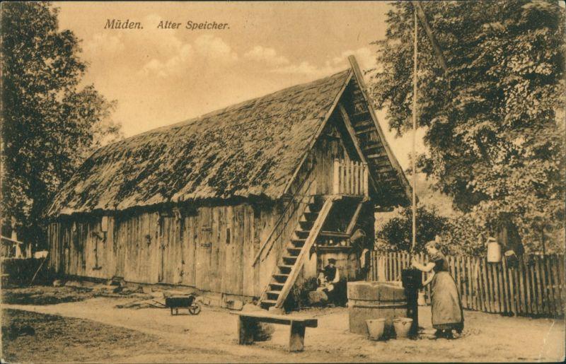 Ansichtskarte Müden (Örtze)-Faßberg Alter Speicher 1915