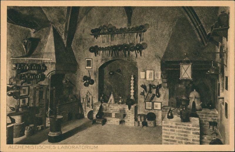 Ansichtskarte München Deutsches Museum: Alchemistisches Laboratorium 1927