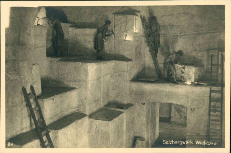 Ansichtskarte München Deutsches Museum: Salzbergwerk Wieliczka 1927