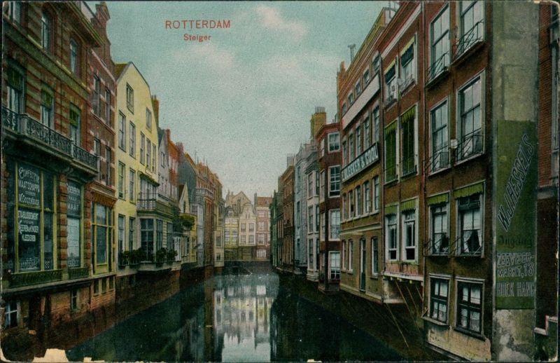 Postkaart Rotterdam Rotterdam Steiger 1907
