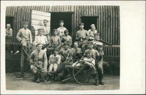 Königsbrück Kinspork Soldaten Baracke Truppenübungsplatz Privatfoto 1915
