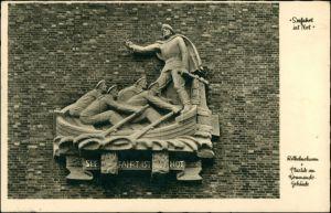 Wilhelmshaven Plastik am Kommandogebäude - Seefahrt in Not 1934