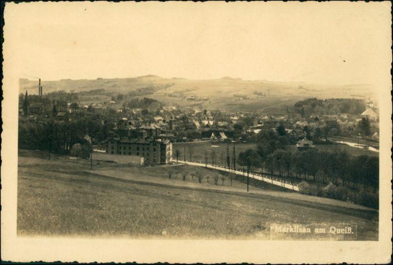 Postcard Marklissa Leśna Blick auf die Stadt 1928